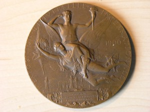 Medal Bronze for Constructors of Exposition Paris 1900 RRR