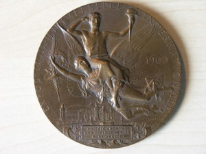 Medal Bronze Belgiun and Russia in Exposition Paris 1900 RRR