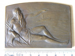 Plaque Bronze 1922