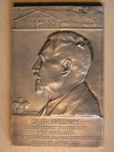 Plaque Silver from P.M.Dammann Nobel 1920 RRR