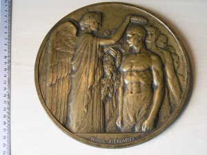 Medallion Large Bronze for Olympiad Paris 1924 RRRR