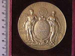 Medal Golded for Captain of French Atlantic cruiser RRR