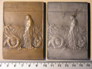 Plaques Bronze And Silver for French President Carnot RRR