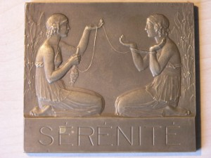 Plaque Serenite from P.M.Dammann 1920 RRR